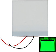 5 * 5 * 0,2 cm luz azul DIY LED luz de fondo del panel de guía de luz LGP para pi frambuesa Arduino - blanco + verde