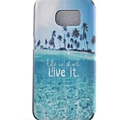 Coconut Island Painted PU Phone Case for Galaxy S7/S7edge/S7 Plus