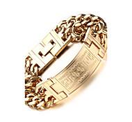 Bracelet Chaînes & Bracelets Acier inoxydable / Plaqué or Soirée / Quotidien / Décontracté / Sports Bijoux Cadeau Doré,1pc
