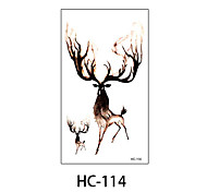 (1pcs) New Design Fashion Wapiti Temporary Tattoo Stickers Temporary Body Art Waterproof Tattoo Pattern