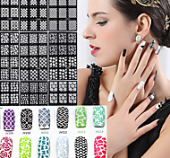 HOT SALE Easy Stamping Tool Nail Art Template Stickers Stamp Stencil Guide Reusable Tips 20 Style For Choice