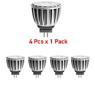 4 stuks GOGO G4 4W 4 SMD 2835 300 LM Warm wit MR11 Decoratief LED-spotlampen DC 12 / AC 12 V