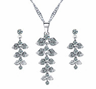 Leaves Diamond Jewelry Set
