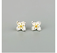 Hot Style Selling 925 Silver Small Four Which Stud Earrings