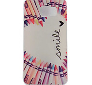 Love Pencil Painted TPU Phone Case for Galaxy S7/S7 Edge/S7 Edge Plus