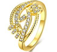 Damen Statementringe,Schmuck Golden / Rotgold Hochzeit / Party / Alltag / Normal vergoldet / Rose Gold überzogen 1pc,7 / 8