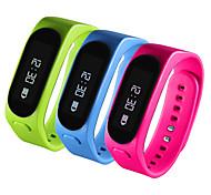 2 em 1 fone de ouvido Bluetooth inteligente pulseira pulseira oled pedômetro tela