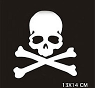 13X14CM Funny Ghost rider skulls Car Sticker Car Window Wall Decal Car Styling (1pcs)