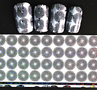 5pcs 20*4cm 2016 New Japanese White  Series Nail Art Whirl Shape Design Transfer Foils DIY Nail Sticker STZ Jw2