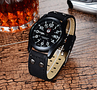 Men's SOKI watch Quartz Waterproof Sports Watch Calendar Genuine PU Military Watch (Assorted Color) Wrist Watch Cool Watch Unique Watch