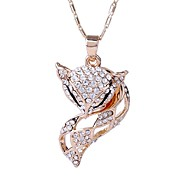 Women Necklace ELegant Crystal Fox Pendant Necklace(Assorted Color)