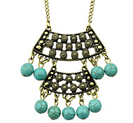 Bohemian Ethnic Style Turquoise Very Long Pendant Necklace