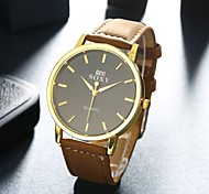 Fashion Business Stainless Steel Leather Men's Watch