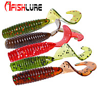 "Afishlure Soft Bait Curly Tail Soft Crub 1.2g/1/18 oz 45mm/1-3/4"" 24pcs/lot Sea Fishing/Fly Fishing/Bait Casting"