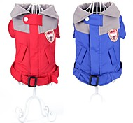 Dog Coat / Rain Coat / Clothes/Clothing Red / Blue Winter Color Block Waterproof / Keep Warm / Fashion-Pething®