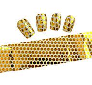 10pcs 100cmx4cm Gold Glitter  Nail Foil Sticker  DIY Beauty  Nail Decorations  Sticker STZXK01-49
