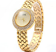 GND Diamond Women Quartz Watch with Stainless Steel Strap