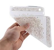 patrón de flor blanca completa TPU caso de la tableta de vuelta suave para el mini ipad 3/2/1