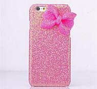 de lujo en polvo brillante del bowknot caso de la contraportada para el iPhone 6 más / 6s más (colores surtidos)