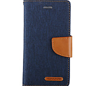Deep Blue Wallet Card Holder PU Leather Case With Stand For Iphone6/6s