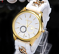 Ladies' Watch Geneva Fashion Silicone Quartz Watch Cool Watches Unique Watches