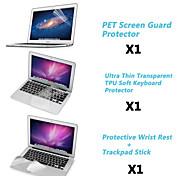 """Protector de pantalla + cubierta del teclado de TPU + resto de metal y membrana de panel táctil de 11,6 macbook air """"/13.3"""""""