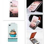 City Pattern Up-down Turn Over PU Leather Full Body Case for iPhone 4/4S
