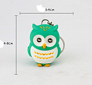 1pc LED Owls Keychain Sound Voice Glowing Pendant Keychais Creative Gifts Children Toy Gift for Lovers