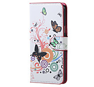 For Samsung Galaxy Case with Stand / Flip Case Full Body Case Butterfly PU Leather Samsung J5 (2016)