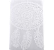 blanc motif pleine fleur TPU doux cas de retour de la tablette pour ipad air 2 / ipad 6