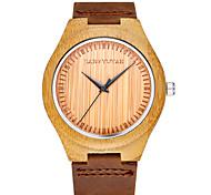 jyy®ultra-fino populares de bambu original relógio de forma dos homens relógios de madeira de couro genuíno masculino relógio banda