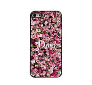 Flower Pattern Aluminum Hard Case for iPhone 5/5S