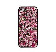 Flower Pattern Aluminum Hard Case for iPhone 5/5S