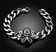Skeleton Personality Retro Men's Stainless Steel Bracelet