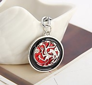 Game of thrones House Targaryen Keychain Metal Key Rings For Gift Chaveiro Keychain