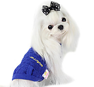 Dog Coat Green / Blue Dog Clothes Summer Fashion