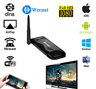 wecast plus dual-band 2,4 g 5g mirascreen ota tv-stick dongle voor iPhone 6s / galaxy s6 android ios Windows OS
