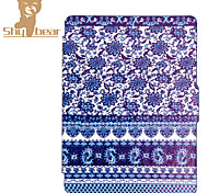 Smart Printed Protective Cover Leather Case For Kobo Touch 2.0 (2015) Blue and White Porcelain Ereader Ebook Case