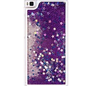 Flowing Quicksand Liquid Bling Sparkle Stars Clear Hard Case Cover for Huawei Ascend P8 Lite  (Assorted Colors)