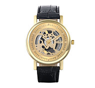 Authentic moment Leather watch Waterproof Skeleton Watch men watch quartz watch 2 band/Dial Color WH0029A-J Wrist Watch Cool Watch Unique Watch