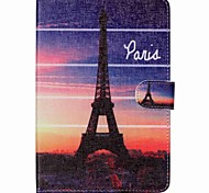 Eiffel Tower Folio Leather Stand Cover Case With Stand for iPad Mini 4
