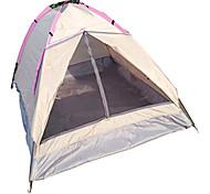 LANGYA 2 человека Световой тент Один экземляр Однокомнатная Палатка Воздухопроницаемость Быстровысыхающий-Походы-желтый Светло-розовый