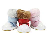 Dog Shoes & Boots Fashion Red / Blue Summer PU Leather