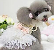 Dog Dress White / Pink Dog Clothes Spring/Fall Fashion