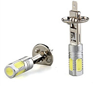 2 em 1, h1 / cob 5 lâmpada 7.5w400lm lâmpada branca da lâmpada automotiva