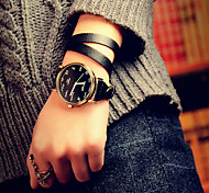 YAZOLE Womens Watches Fashion Watches Leather Multilayer Female Watch Quartz Watch (Black) Cool Watches Unique Watches