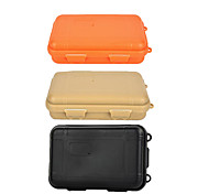 Outdoor Survival Water-Resistant Anti-Shock Sealed Storage Case Container - Black / Orange / Khaki (Large)