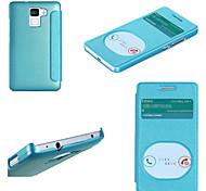 "Fashion Smart Two View Window Thin Flip PU Case Cover for HUAWEI HONOR7 5"""