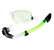 Diving Masks Swim Mask Goggle Dry Top Diving / Snorkeling Glass silicone Red Yellow Green Blue Black