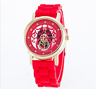 Women's Fashion Silicone Band Quartz Analog Wrist Watch(Assorted Colors)